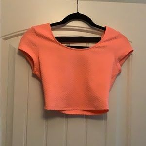 Coral colored crop top